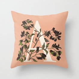 Letter A for Amelanchier Throw Pillow