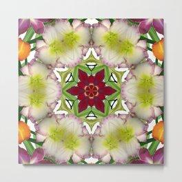 Daylily mandala 6 - Hemerocallis kaleidoscope Metal Print