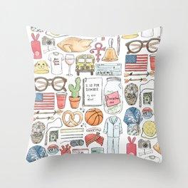 New Girl Throw Pillow