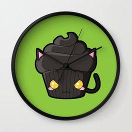Spooky Cupcake - Black Cat Wall Clock