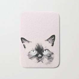 pink cat Bath Mat