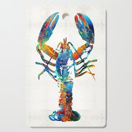 Colorful Lobster Art by Sharon Cummings Cutting Board