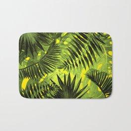 Tropical Leaves Aloha Jungle Garden Bath Mat