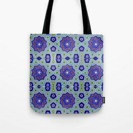 Samarkand Kaleidoscope in Blue Tote Bag