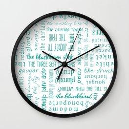 Irish Dance Sets: Turquois Wall Clock