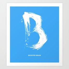 Boosted Brain Art Print