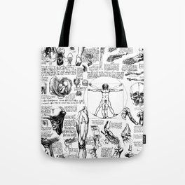 Da Vinci's Anatomy Sketchbook Tote Bag