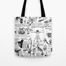 Da Vinci's Anatomy Sketchbook Tote Bag
