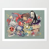 miyazaki Art Prints featuring Hayao Miyazaki by Kensausage