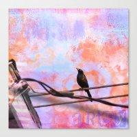 artsy Canvas Prints featuring Artsy Grackle by Angelandspot