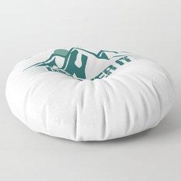 Its Just A Hill Get Over It gr Floor Pillow