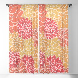 Bright Dahlias Sheer Curtain