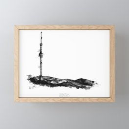 Kok Tobe TV tower Framed Mini Art Print