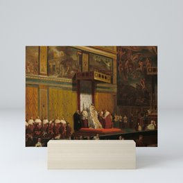 Pope Pius VII in the Sistine Chapel Oil Painting by Jean-Auguste-Dominique Ingres Mini Art Print