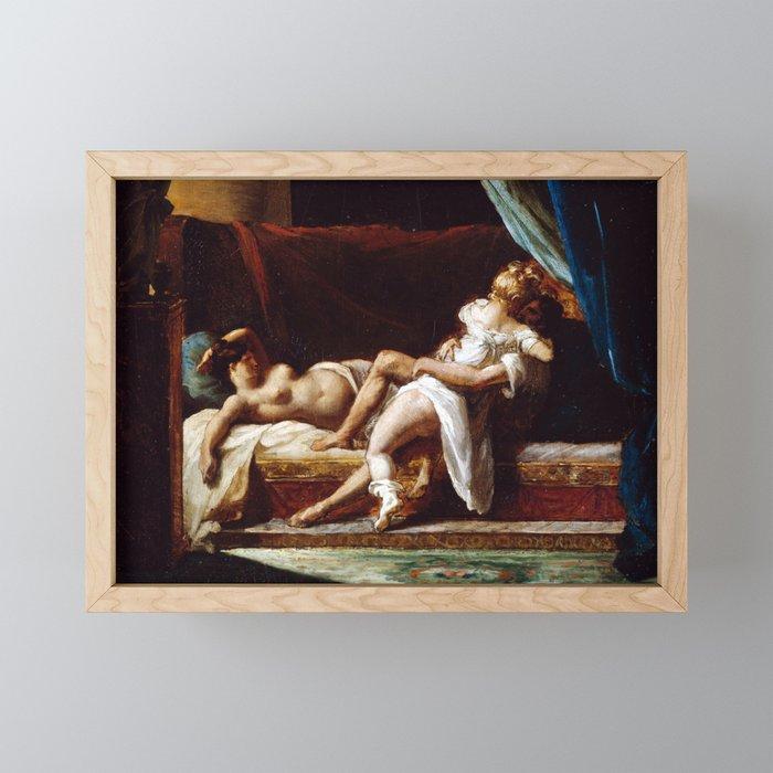 Théodore Géricault Three Lovers Framed Mini Art Print