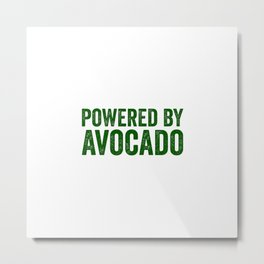Powered By Avocado Metal Print