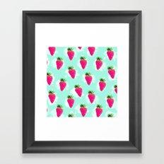 Watercolor Strawberry Framed Art Print