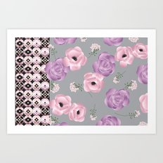 Purple & Pink Art Print
