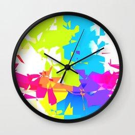Geometric Shatter Wall Clock
