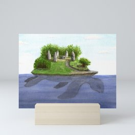 Turtle island Mini Art Print