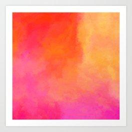 Texture orange kisses pink Art Print