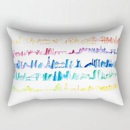 Skylines Across the World Rectangular Pillow