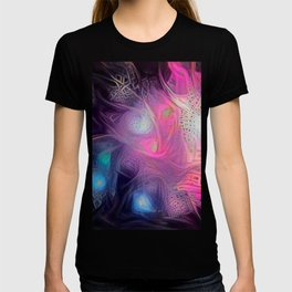 Into the Deep Dream Nebula - Sci Fi Abstract Art T-shirt