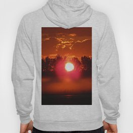 Red Foggy Sunrise Hoody