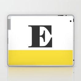 Monogram Letter E-Pantone-Buttercup Laptop & iPad Skin