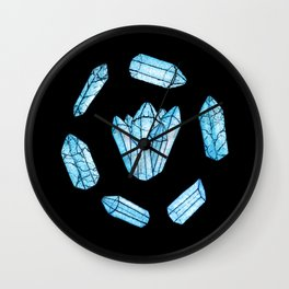 Blue Crystals Wall Clock