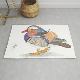 Mandarin duck Rug