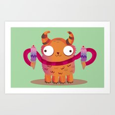 Icecream monster Art Print