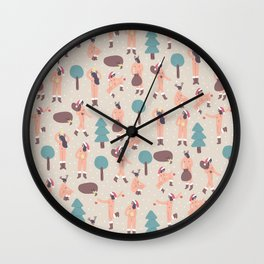 Christmas Nude Girls Wall Clock