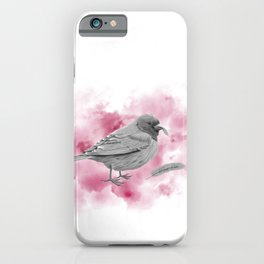 """""""There was a bird who never flew"""" iPhone Case"""