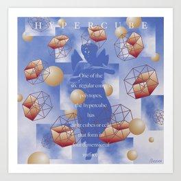 Hypercube Art Print