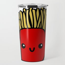 fries fun Cartoon Chips, Character, Characters, Cute, Fast Food Travel Mug