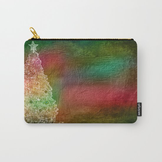 Christmas Tree on Vibrant textured background Carry-All Pouch