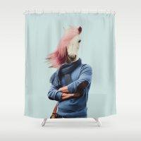 polaroid Shower Curtains featuring Polaroid N°27 by Mrs. Pepper Designs