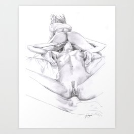A Woman's Passion Art Print