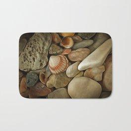 Sea Pebbles With Shells Bath Mat