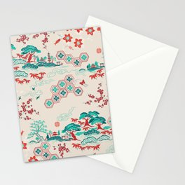 Japanese landscape collage  Stationery Cards
