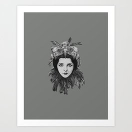 Lady Bird Skull Art Print