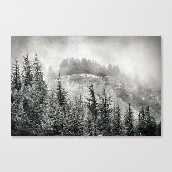 """Mountain light"". Foggy forest. Canvas Print"