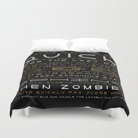 buzz lightyear Duvet Covers featuring Lightyear Type Specimen Poster by Thomas Ramey