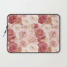 seamless   pattern with roses and leaves . Endless texture Laptop Sleeve