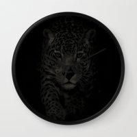 jaguar Wall Clocks featuring Jaguar by MistyD'Vine
