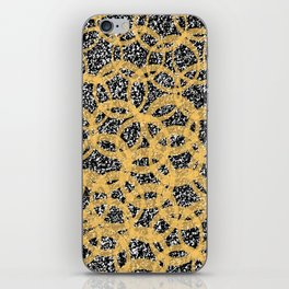 Abstract Beehive Yellow & Black Pattern iPhone Skin