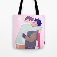 viria Tote Bags featuring tiny iwaois by viria