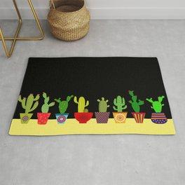 Cactus in black Rug