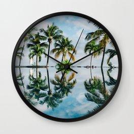Mirror jungle Wall Clock